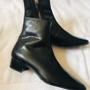 Zara Black Ankle Boots With Design